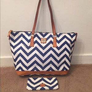 Dooney and bourke Tote and matching wallet.